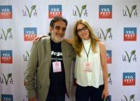 Junto a Manuel Marti, presidente de la Unión Vegetariana Argentina. Organizador Veg Fest. Argentina. Año 2017